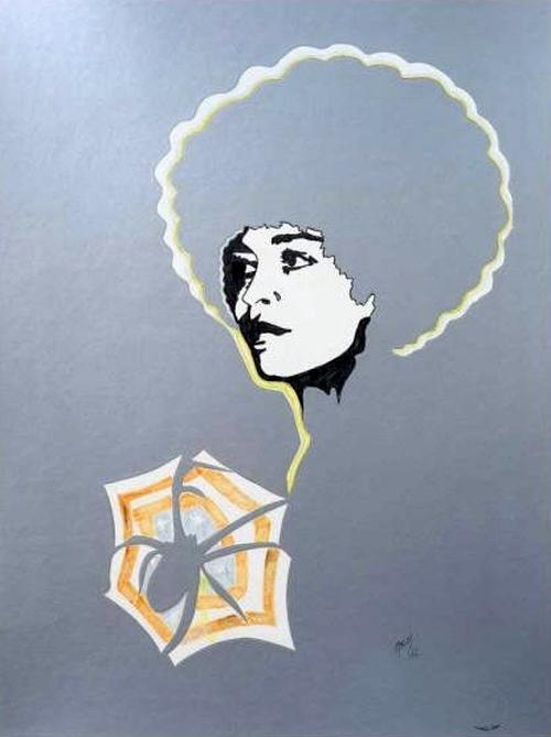 Evelyne Axell, angela davis