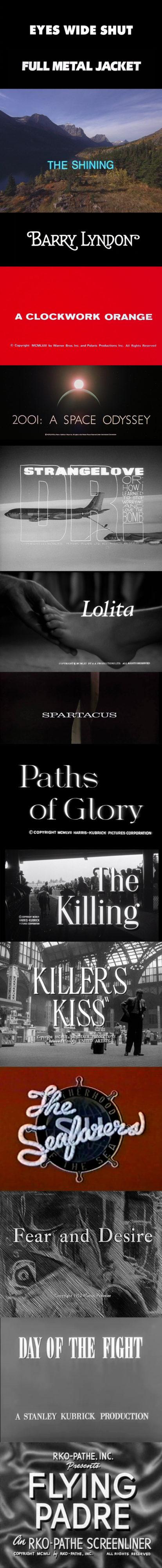 Kubrick Titles