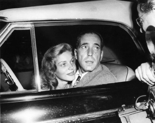 Lauren Bacall And Humphrey Bogart In A Car, 1945