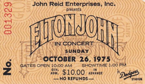 elton john ticket dodgers