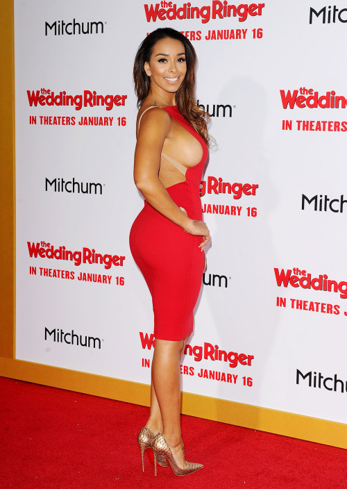 GLORIA GOVAN at The Wedding Ringer Premiere in Hollywood