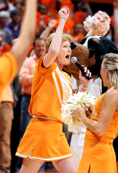 pat summitt cheerleader