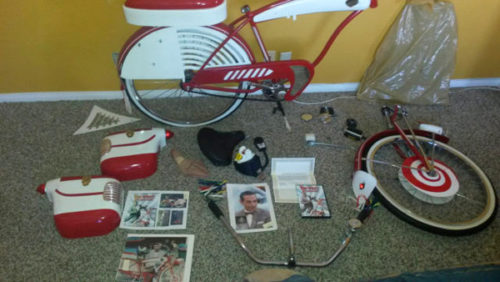 pee wee bike in pieces