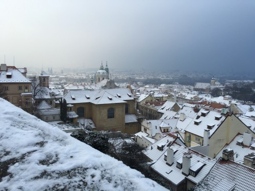 prague castle hill view