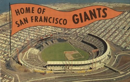 sf giants postcard
