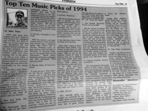 top ten music picks 1994